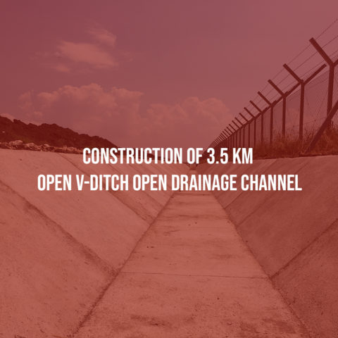 Construction of 3.5 km open V-Ditch open drainage channel